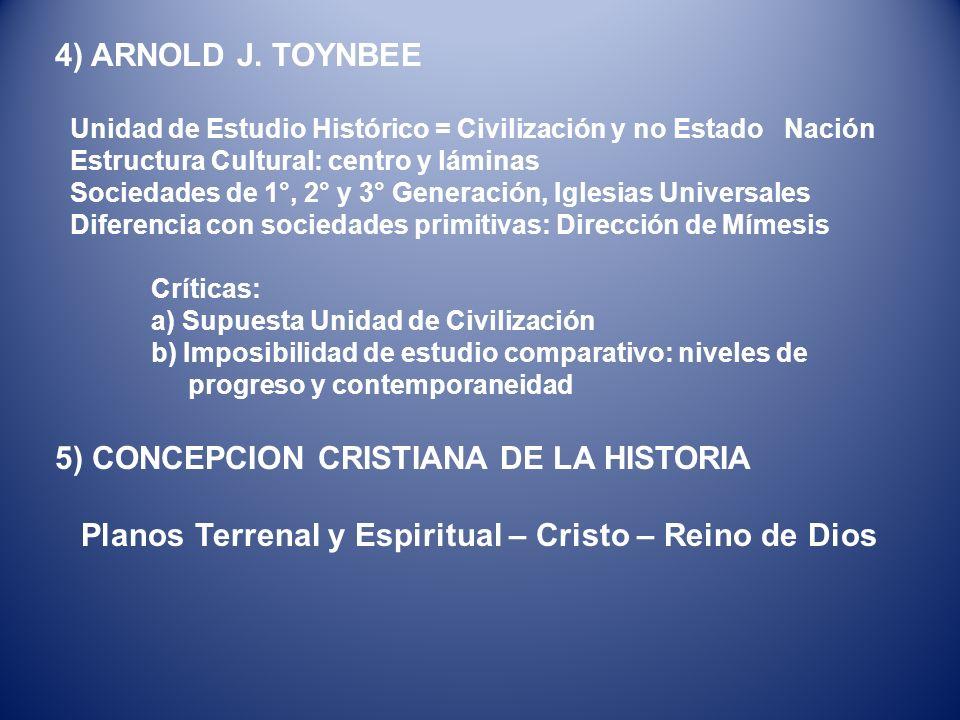5) CONCEPCION CRISTIANA DE LA HISTORIA