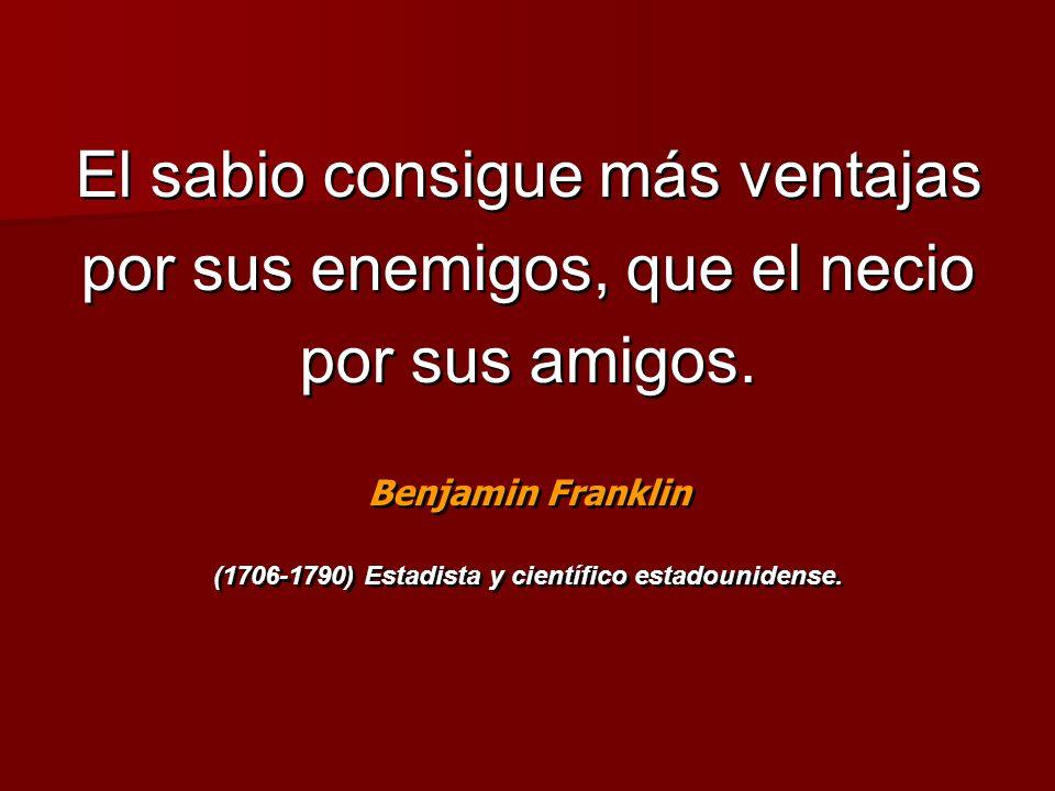 (1706-1790) Estadista y científico estadounidense.