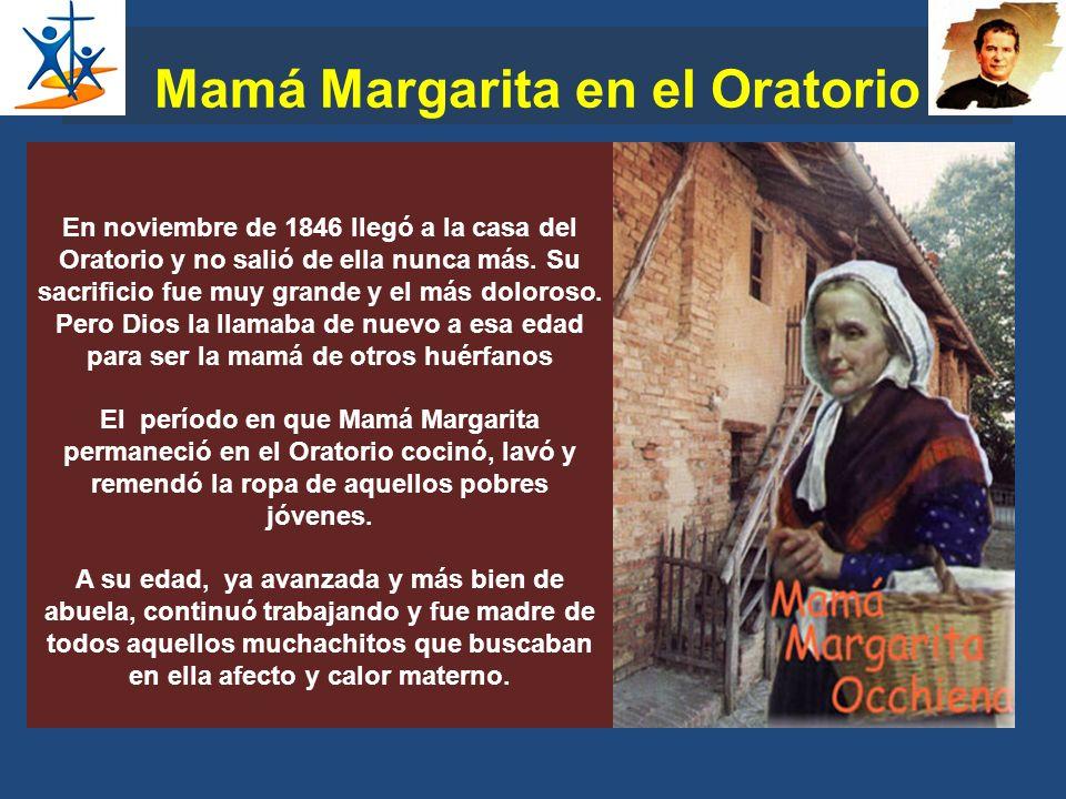 Mamá Margarita en el Oratorio