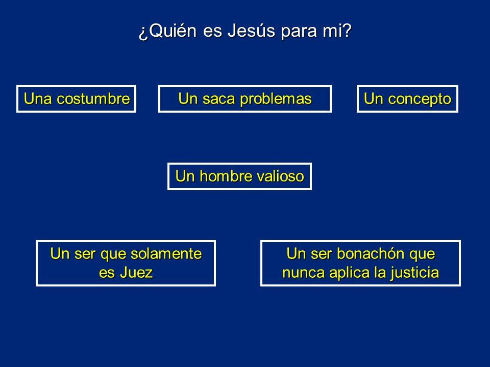 ¿Quién es Jesús para mi Una costumbre Un saca problemas Un concepto
