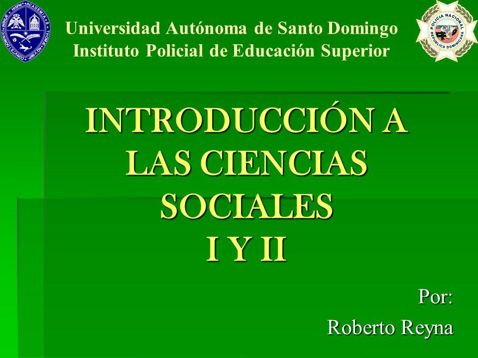 INTRODUCCIÓN A LAS CIENCIAS SOCIALES I Y II