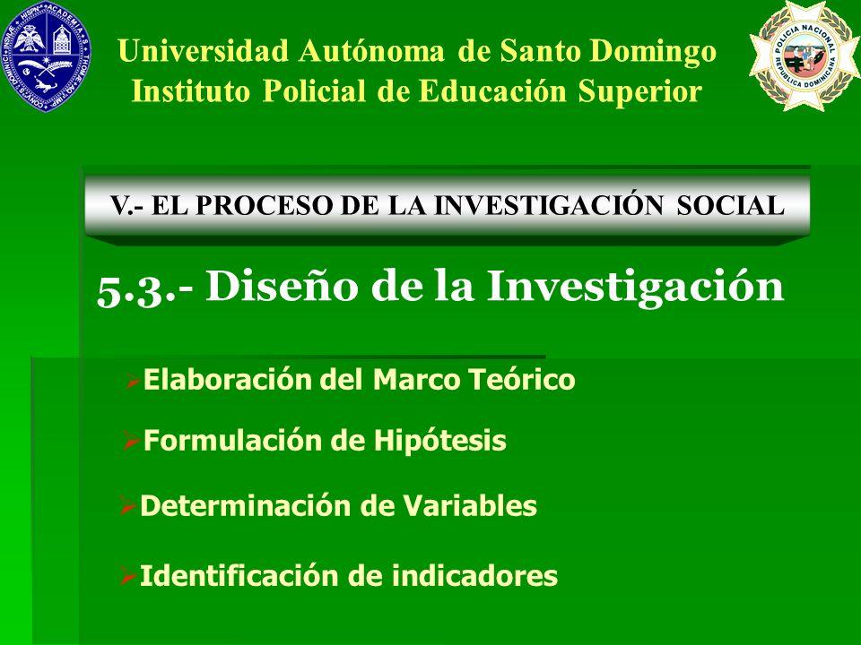 5.3.- Diseño de la Investigación