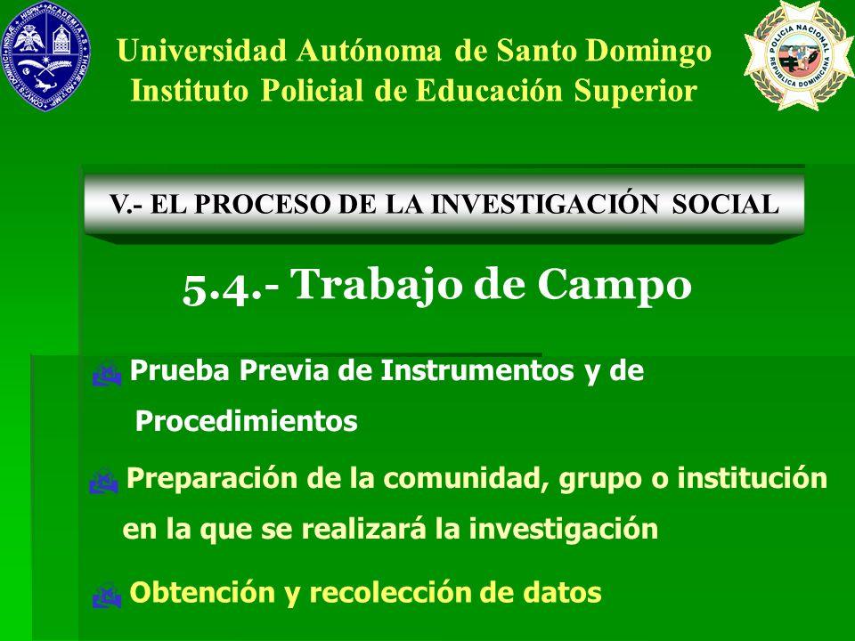 5.4.- Trabajo de Campo Universidad Autónoma de Santo Domingo