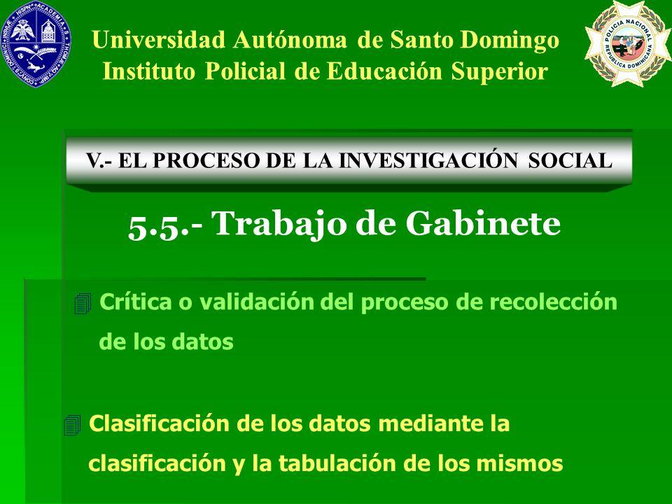 5.5.- Trabajo de Gabinete Universidad Autónoma de Santo Domingo