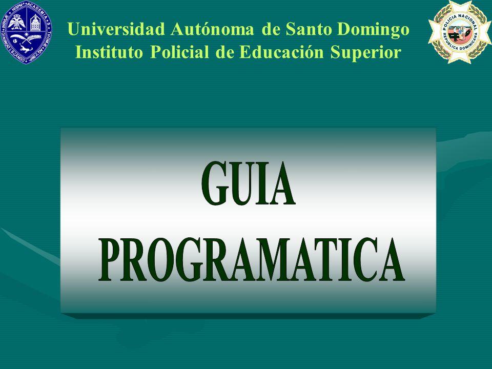 GUIA PROGRAMATICA Universidad Autónoma de Santo Domingo