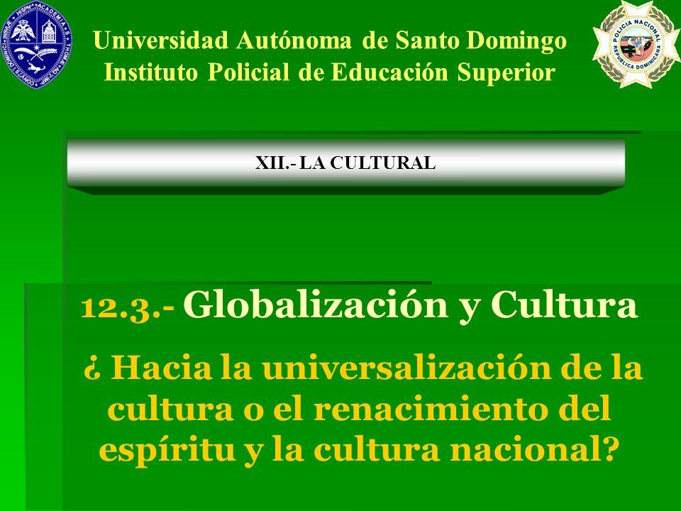 12.3.- Globalización y Cultura