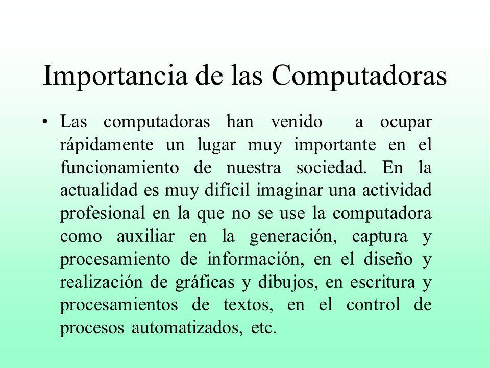 Importancia de las Computadoras