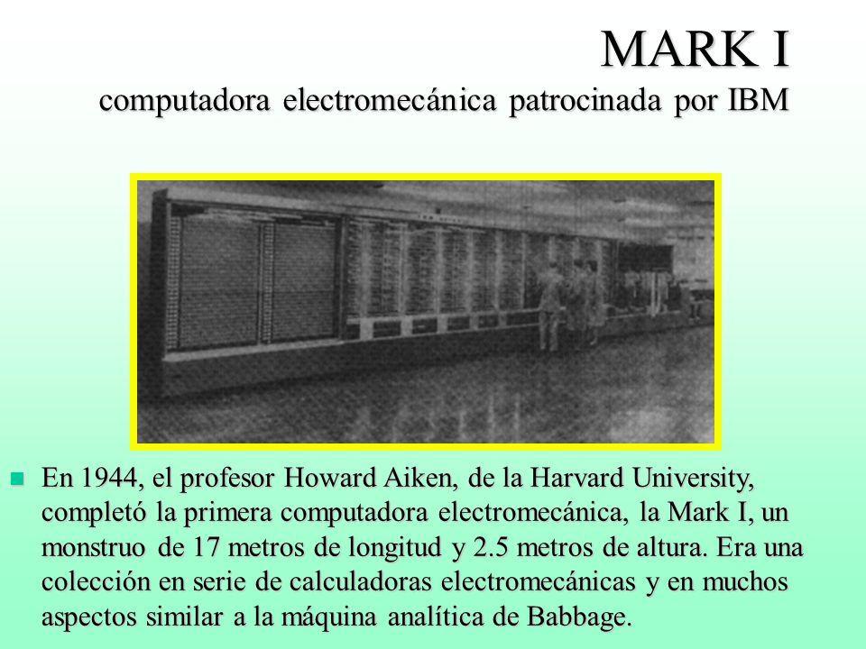 MARK I computadora electromecánica patrocinada por IBM