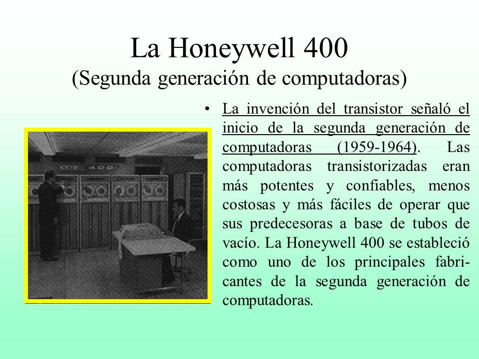 La Honeywell 400 (Segunda generación de computadoras)