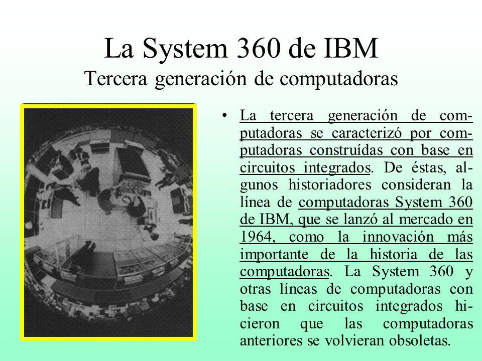 La System 360 de IBM Tercera generación de computadoras