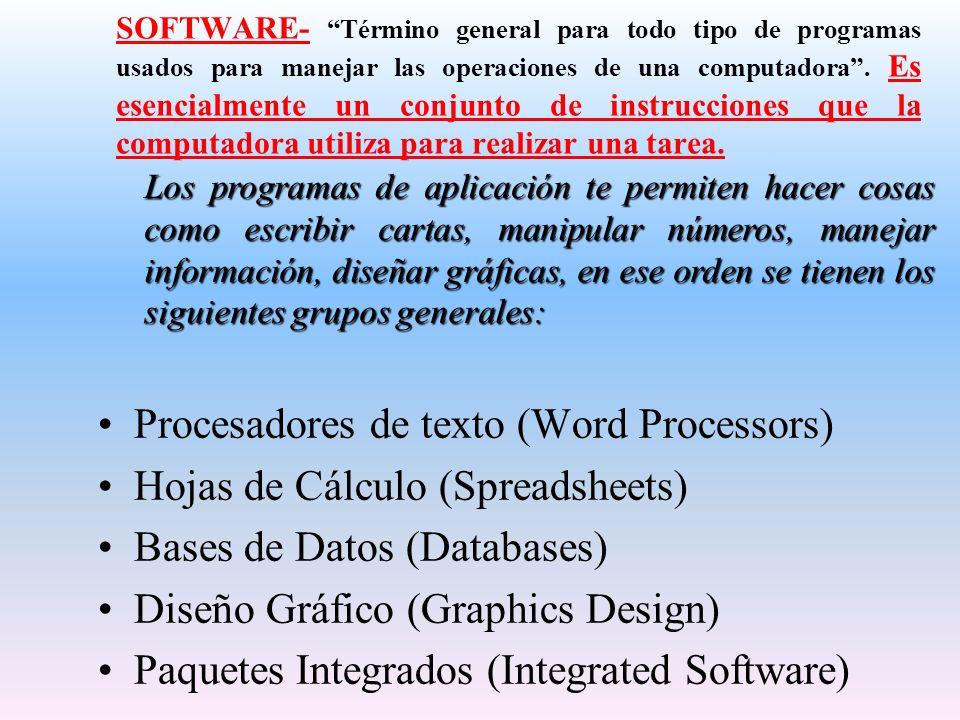 Procesadores de texto (Word Processors)