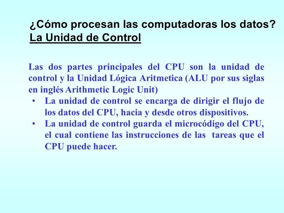¿Cómo procesan las computadoras los datos La Unidad de Control