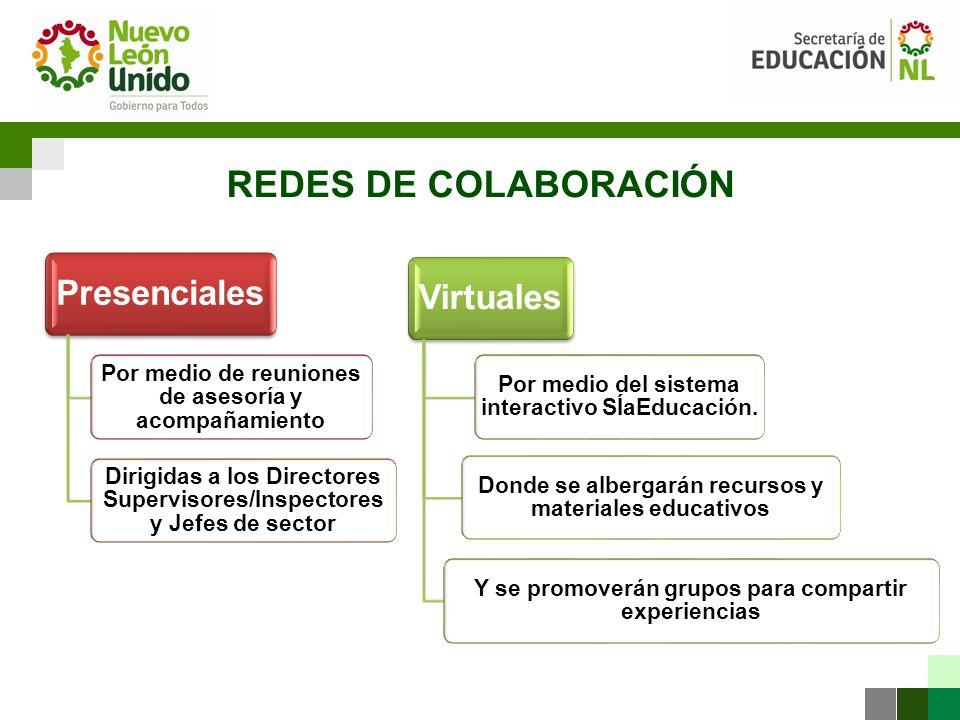 REDES DE COLABORACIÓN Presenciales Virtuales