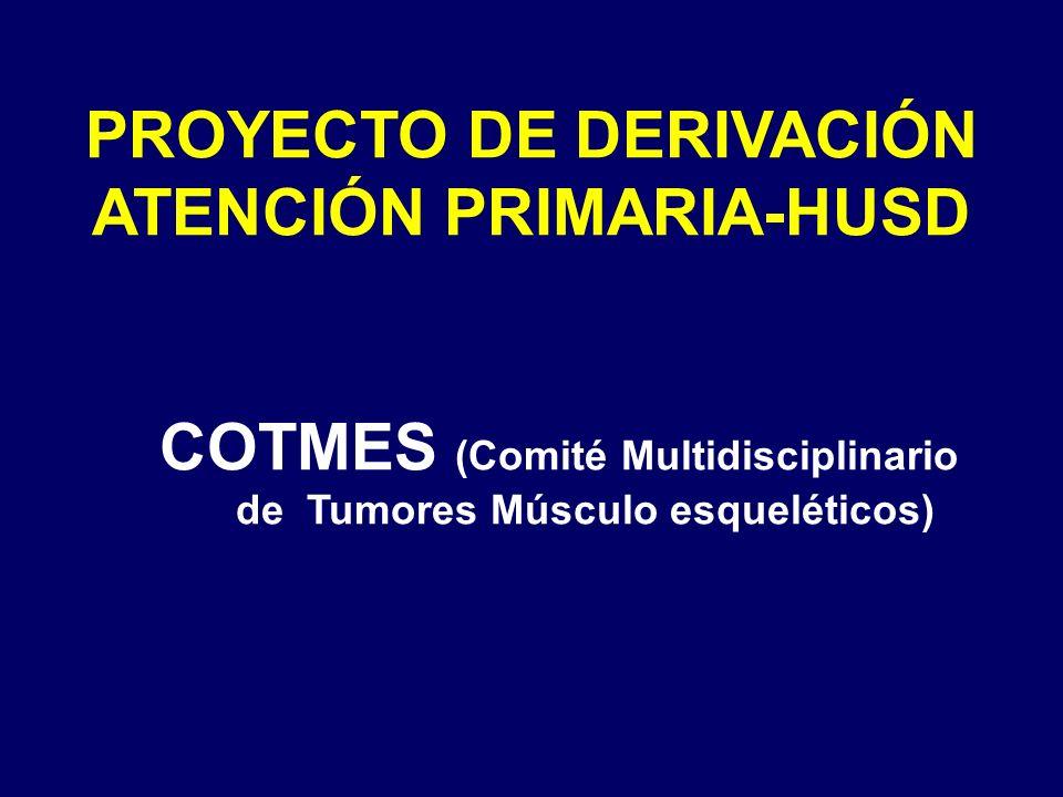 PROYECTO DE DERIVACIÓN ATENCIÓN PRIMARIA-HUSD