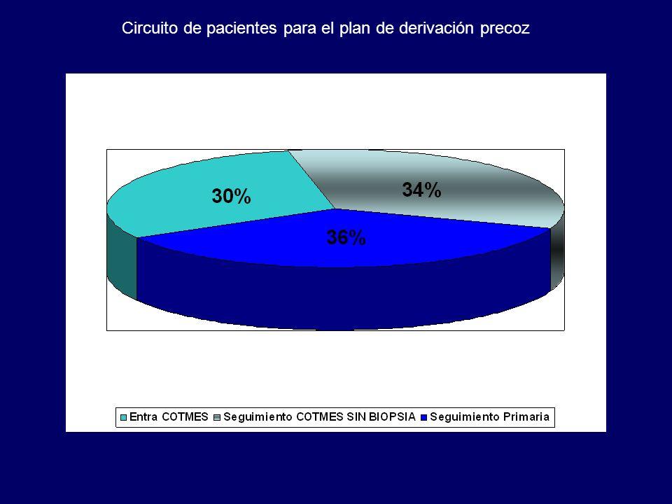 Circuito de pacientes para el plan de derivación precoz