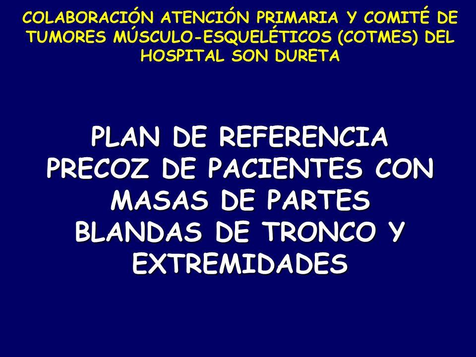 COLABORACIÓN ATENCIÓN PRIMARIA Y COMITÉ DE TUMORES MÚSCULO-ESQUELÉTICOS (COTMES) DEL HOSPITAL SON DURETA