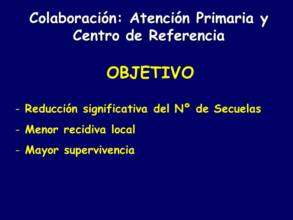Colaboración: Atención Primaria y Centro de Referencia