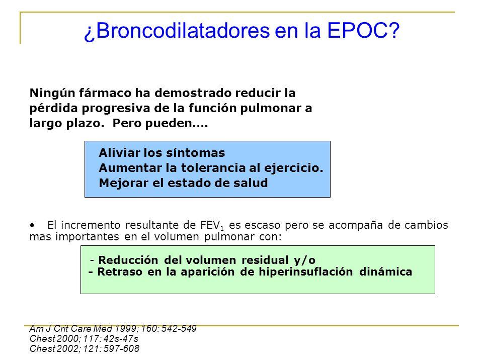 ¿Broncodilatadores en la EPOC