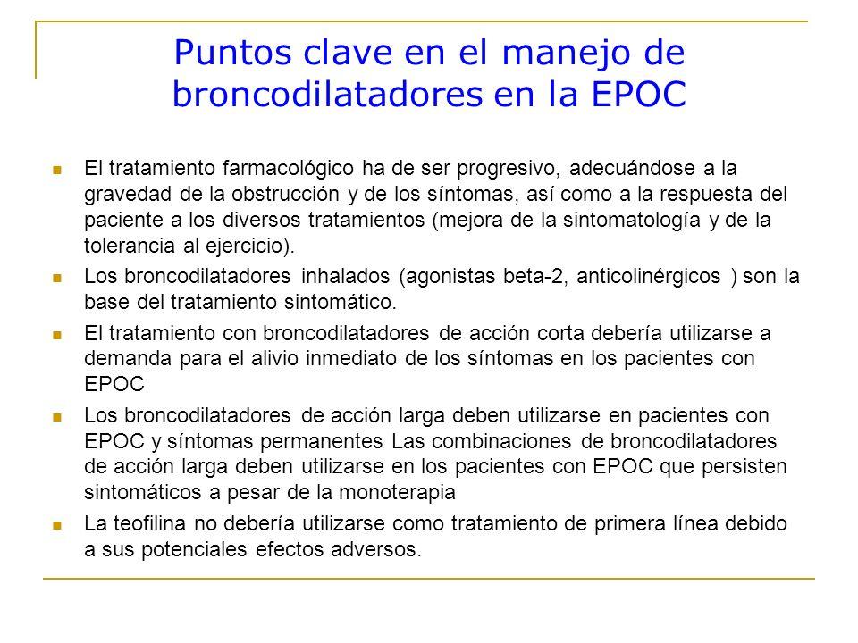 Puntos clave en el manejo de broncodilatadores en la EPOC