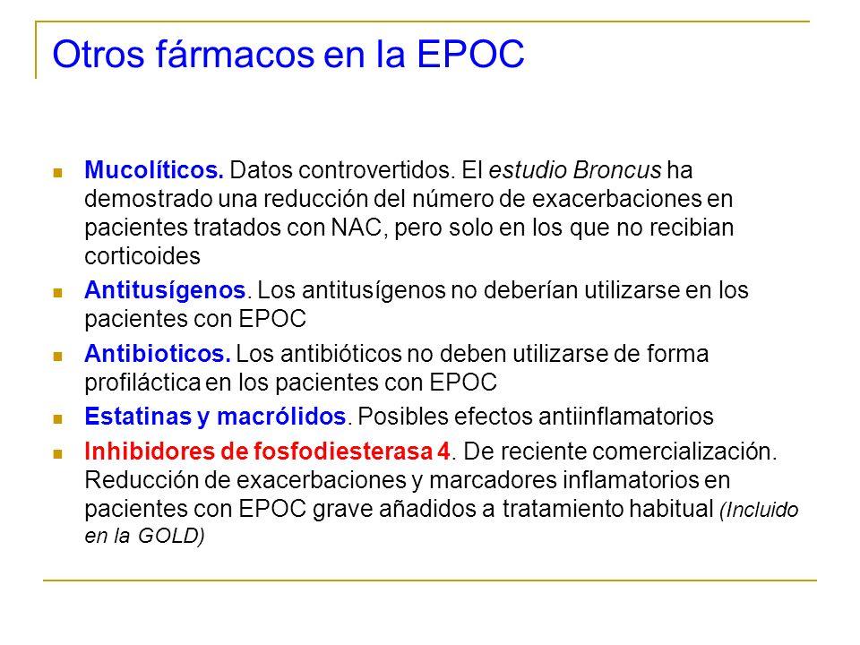 Otros fármacos en la EPOC