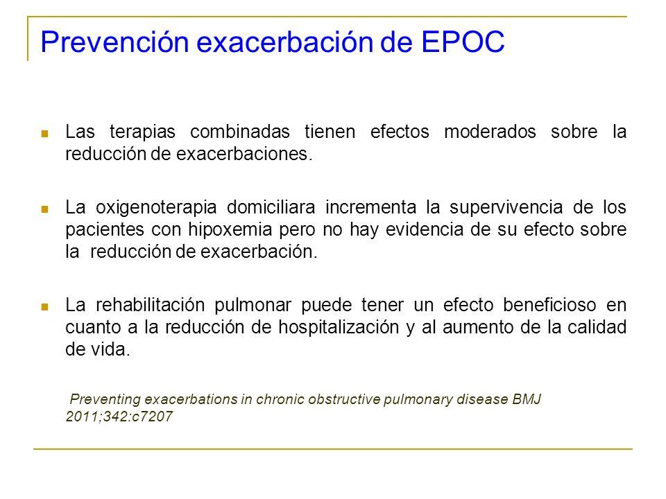 Prevención exacerbación de EPOC