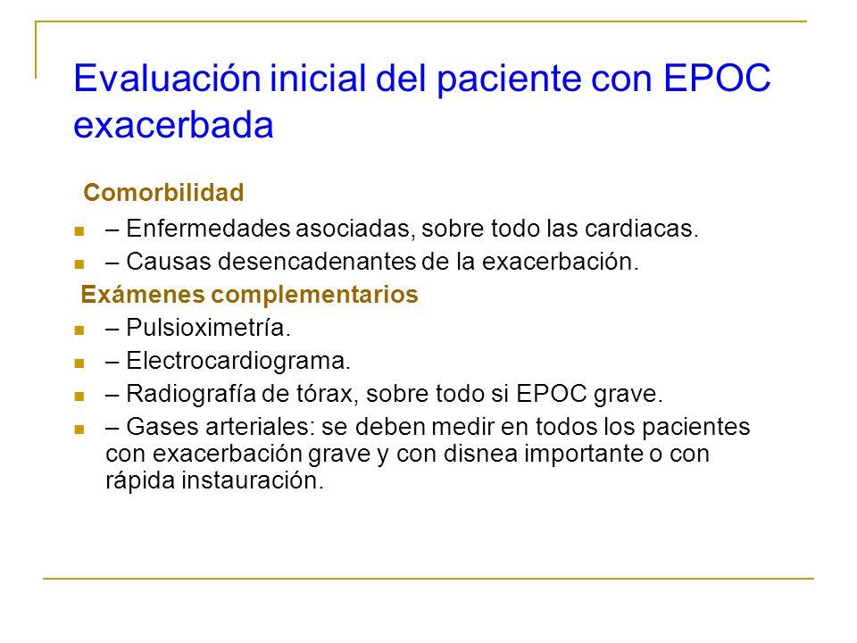 Evaluación inicial del paciente con EPOC exacerbada