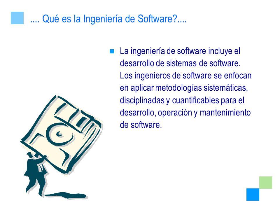 .... Qué es la Ingeniería de Software ....
