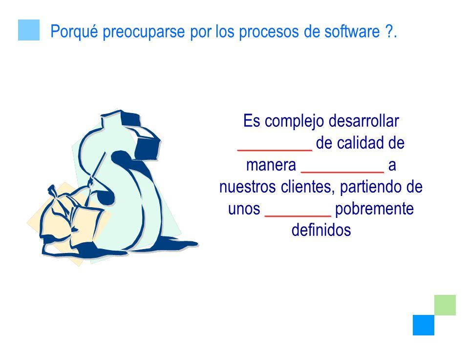 Porqué preocuparse por los procesos de software .