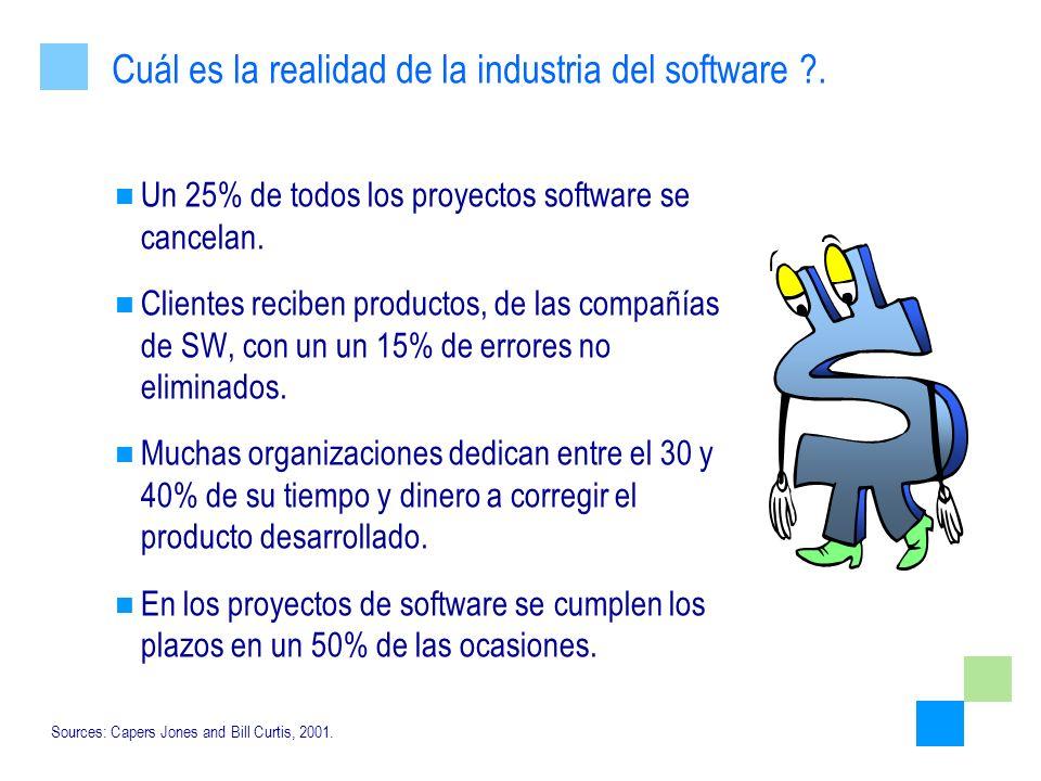 Cuál es la realidad de la industria del software .