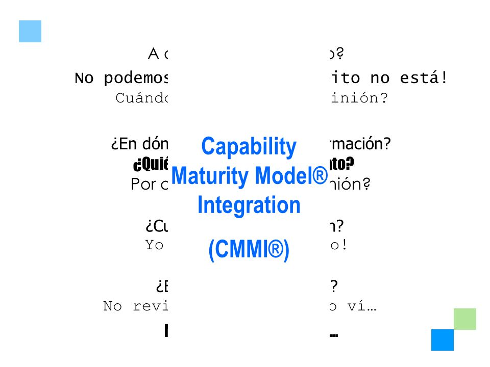 Capability Maturity Model® Integration