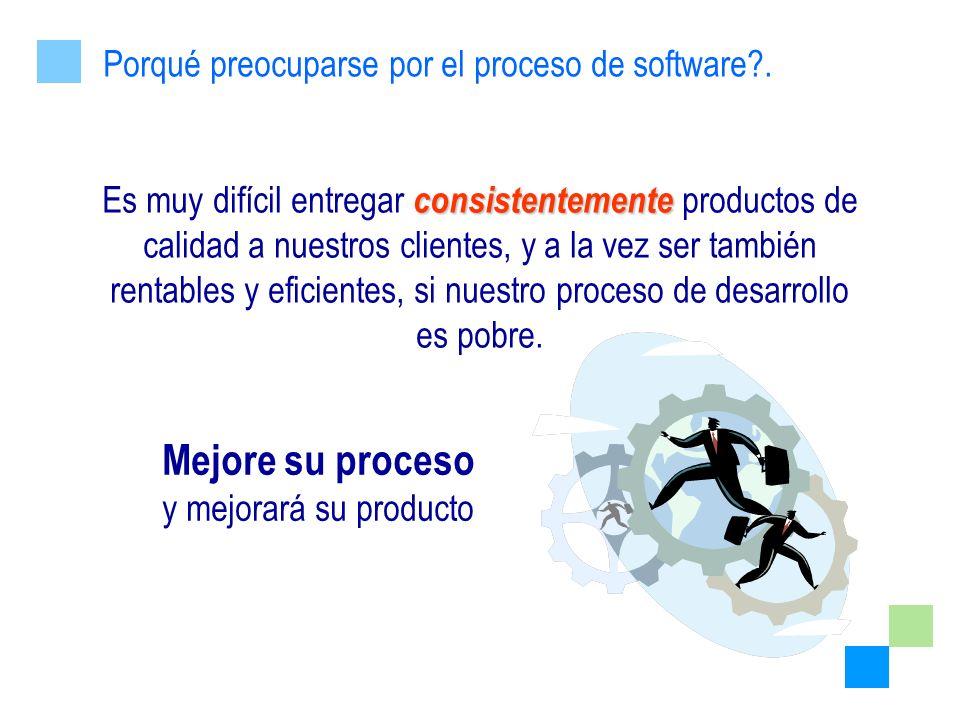 Mejore su proceso Porqué preocuparse por el proceso de software .