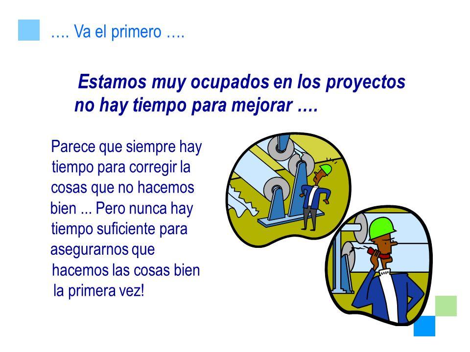 Estamos muy ocupados en los proyectos no hay tiempo para mejorar ….