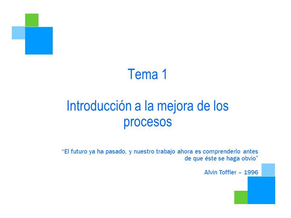 Tema 1 Introducción a la mejora de los procesos