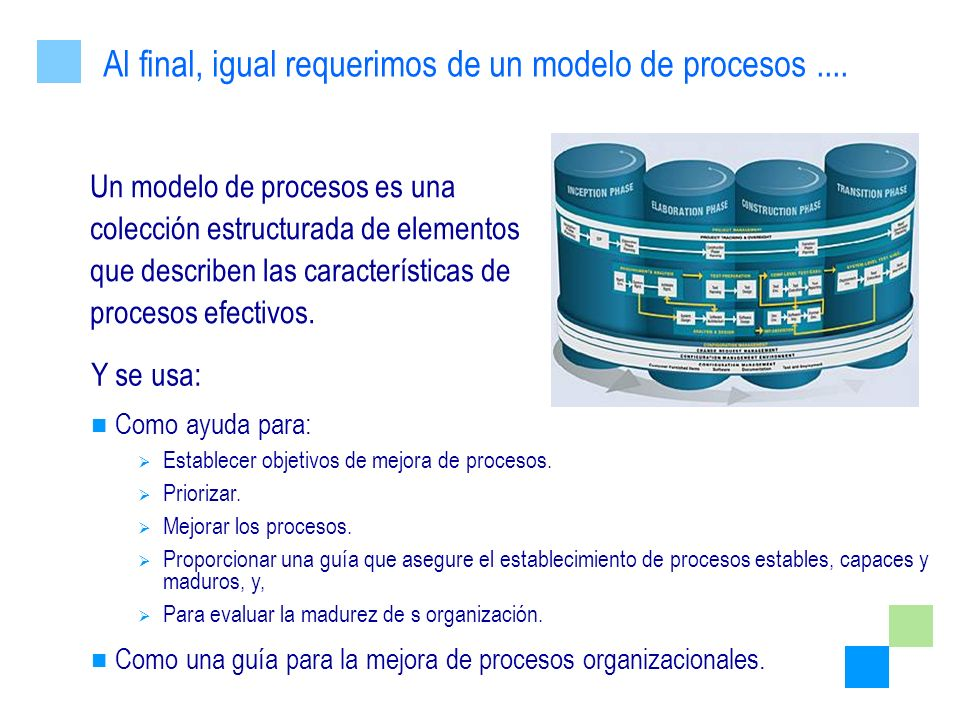 Al final, igual requerimos de un modelo de procesos ....