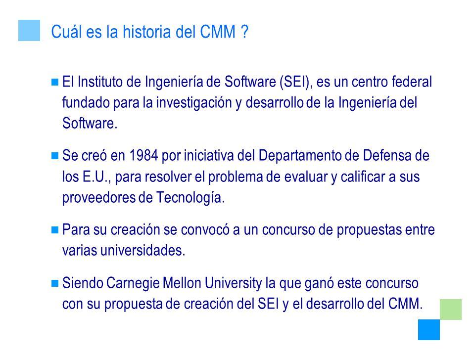 Cuál es la historia del CMM