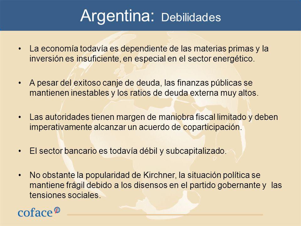 Argentina: Debilidades