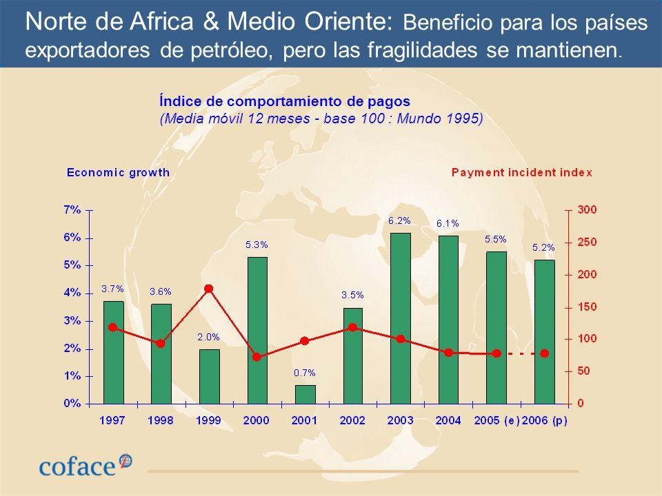 Norte de Africa & Medio Oriente: Beneficio para los países exportadores de petróleo, pero las fragilidades se mantienen.