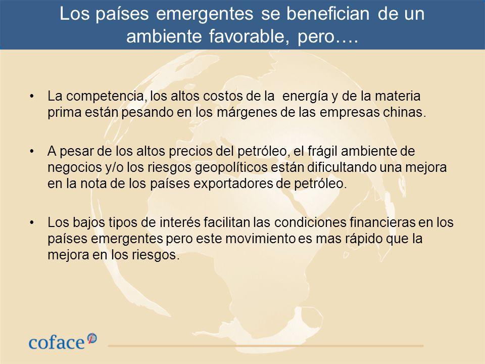 Los países emergentes se benefician de un ambiente favorable, pero….