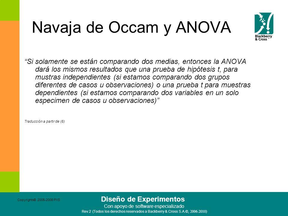 Navaja de Occam y ANOVA