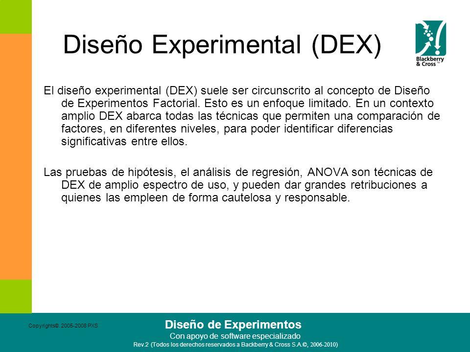 Diseño Experimental (DEX)