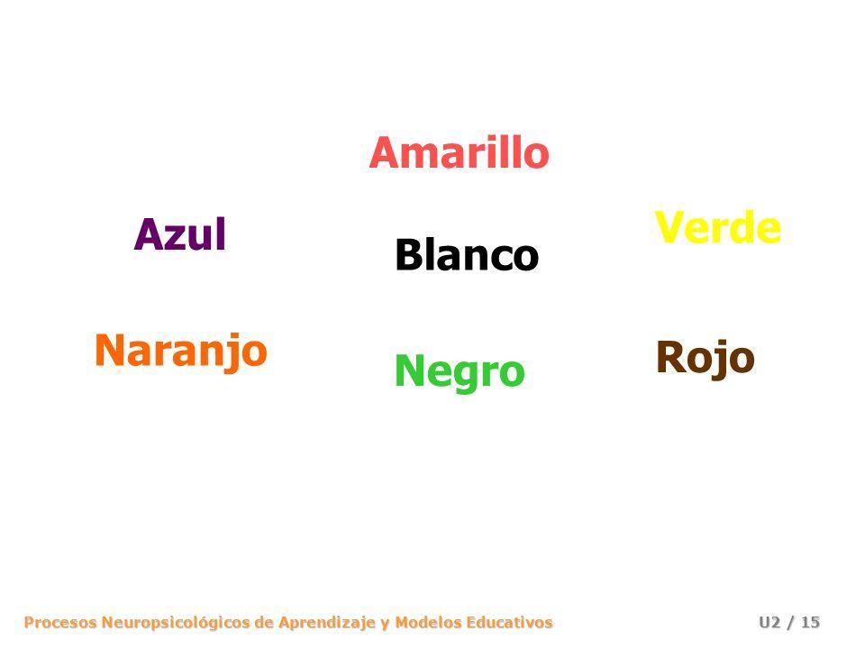 Amarillo Verde Azul Blanco Naranjo Rojo Negro