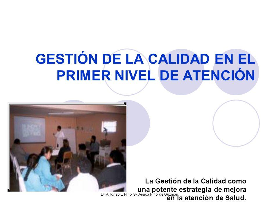 GESTIÓN DE LA CALIDAD EN EL PRIMER NIVEL DE ATENCIÓN