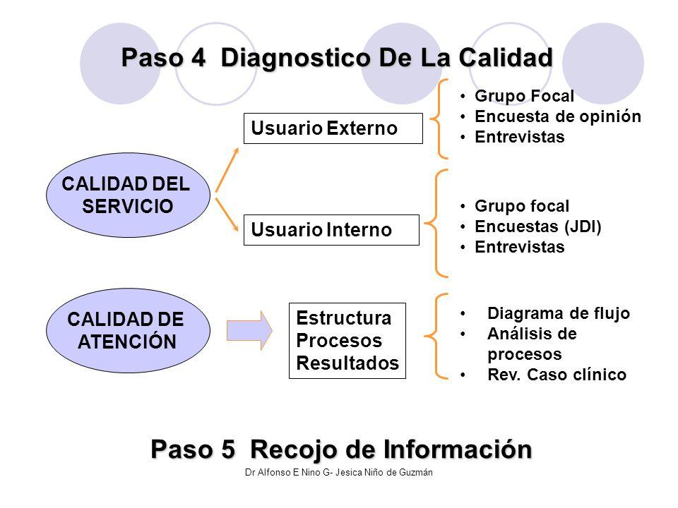 Paso 4 Diagnostico De La Calidad Paso 5 Recojo de Información