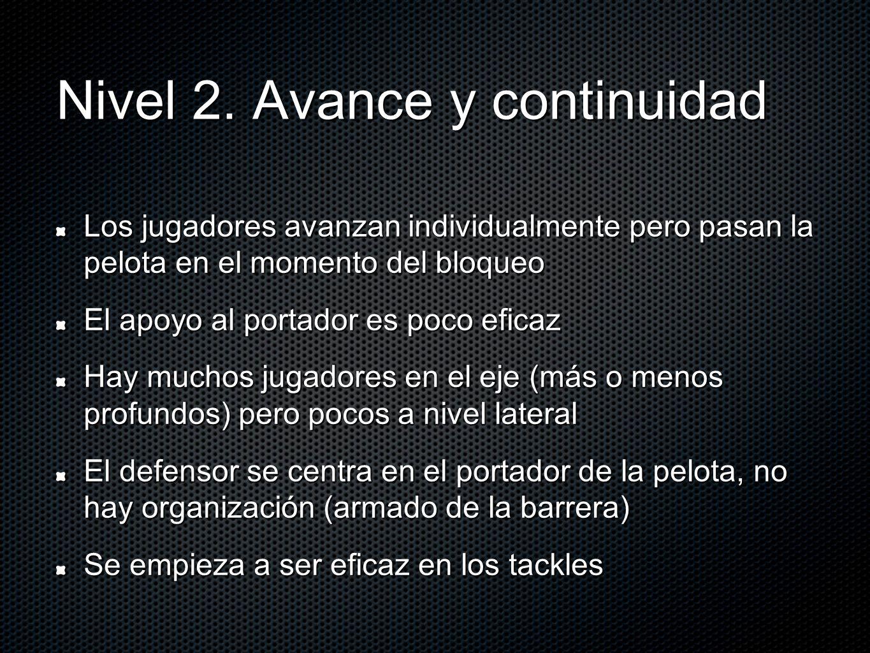Nivel 2. Avance y continuidad