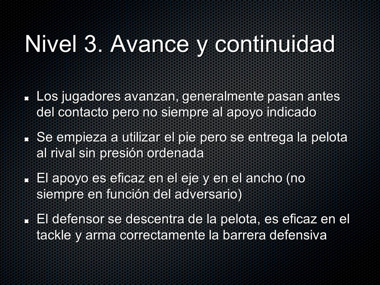 Nivel 3. Avance y continuidad
