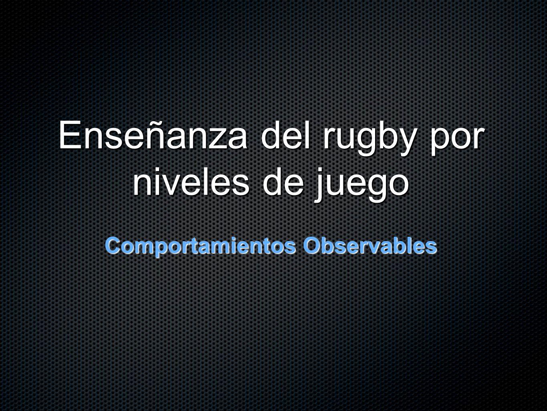 Enseñanza del rugby por niveles de juego