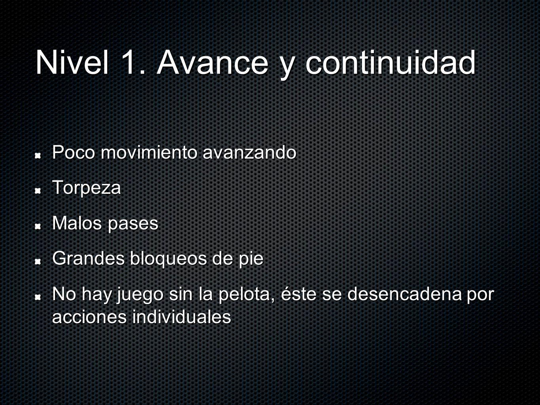Nivel 1. Avance y continuidad
