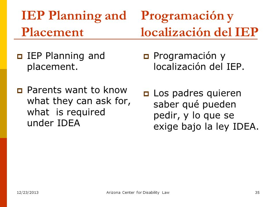 IEP Planning and Placement