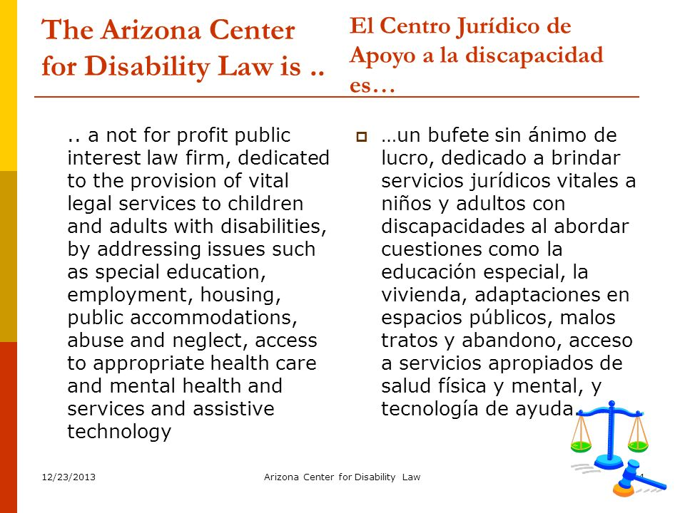 The Arizona Center for Disability Law is ..