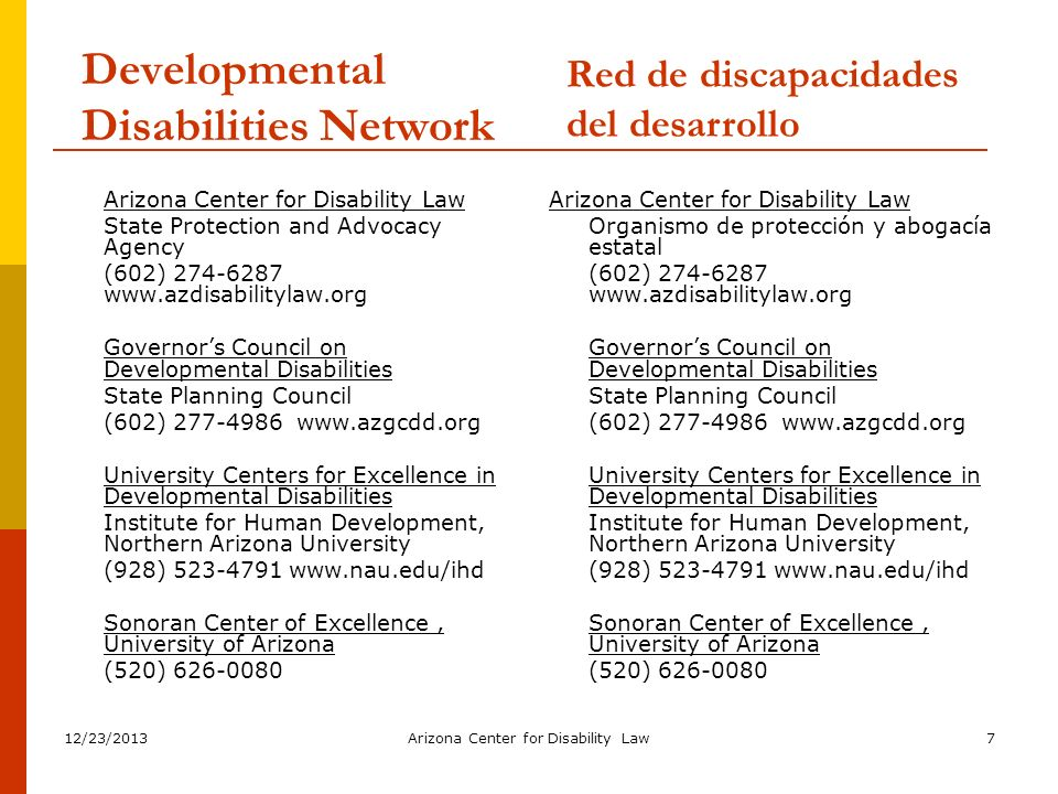 Developmental Disabilities Network